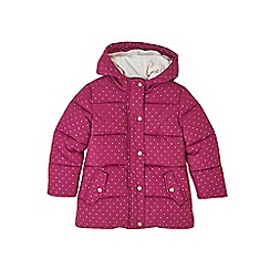 Outfit Kids - Girls' pink spotted padded coat