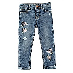 Outfit Kids - Girls' light wash embroidered jeans