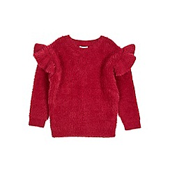 Outfit Kids - Girls' red fluffy jumper