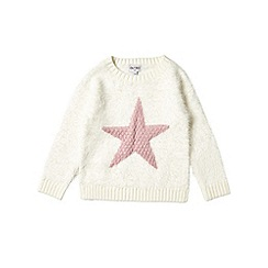 Outfit Kids - Girls' white star knitted jumper