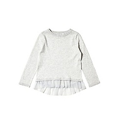Outfit Kids - Girls' grey frill hem jumper