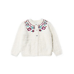 Outfit Kids - Girls' white fluffy cardigan