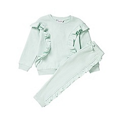 Outfit Kids - Girls' mint green frill tracksuit set