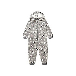 Outfit Kids - Girls' grey printed all in one