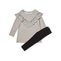 Outfit Kids - Girls' grey frill dress and leggings set