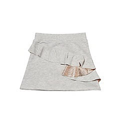 Outfit Kids - Girls' grey metallic ruffle skirt