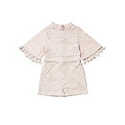 Outfit Kids - Girls' pink lace playsuit