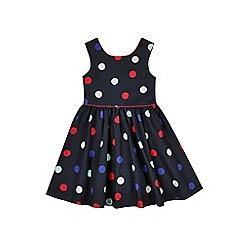 Outfit Kids - Girls' navy sateen spot dress
