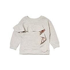 Outfit Kids - Girls' grey metallic frill sweatshirt