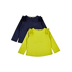 Outfit Kids - 2 pack girls' navy frill tops