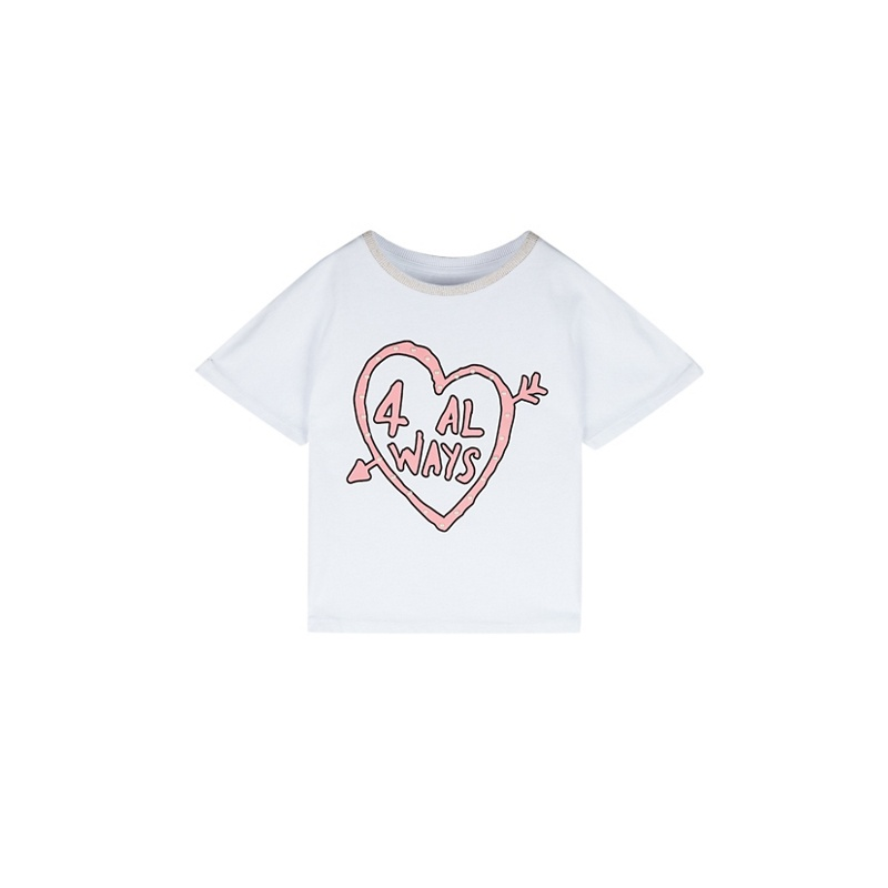OUTFIT KIDS | Outfit Kids - Girls' White Short Sleeve Printed T-Shirt | Goxip