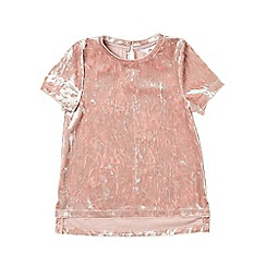 Outfit Kids - Girls' pink velvet top