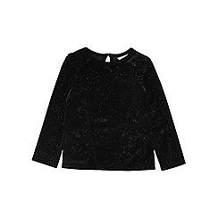 Outfit Kids - Girls' black frill velvet top