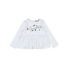 Outfit Kids - Girls' white sparkle top
