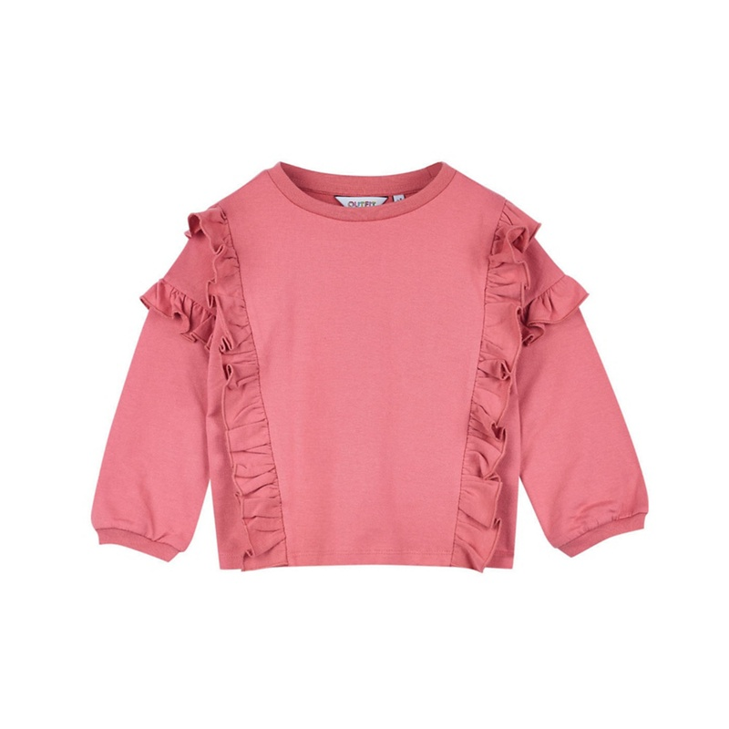 OUTFIT KIDS   Outfit Kids - Girls' Pink Double Ruffle Sweat Top   Goxip