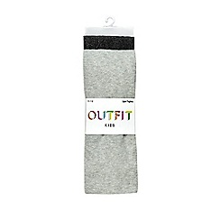 Outfit Kids - 2 pack girl's black and grey tights
