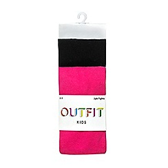 Outfit Kids - 2 pack girls' black and pink tights
