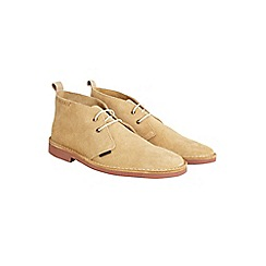 Burton - Ben sherman beige leather desert boots*
