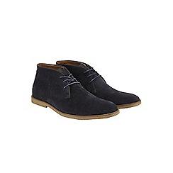 Burton - Navy desert boots