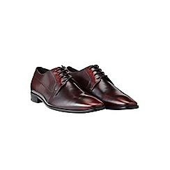 Burton - Ben sherman burgundy leather shoes