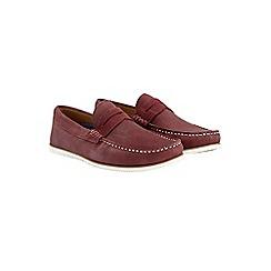 Burton - Burgundy suede loafers