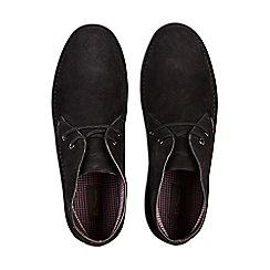 Burton - Black suede desert boots