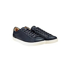Burton - Navy perforated trainers