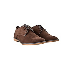 Burton - Brown suede look desert shoes