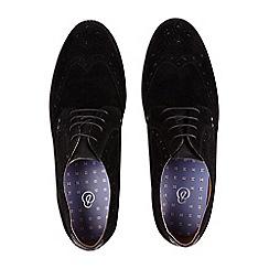 Burton - Black suede look brogue shoes