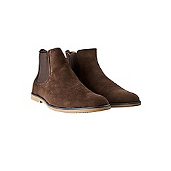 Burton - Brown chelsea boots