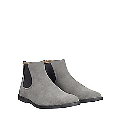 Burton - Grey chelsea boots