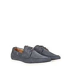 Burton - Blue suede look boat shoes