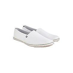 Burton - White slip-on plimsolls