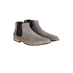 Burton - Grey leather chelsea boots