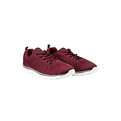 Burton - Burgundy knit trainers