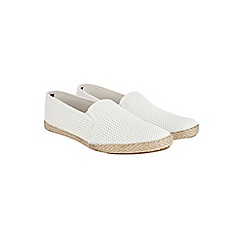 Burton - White mesh slip-on plimsolls