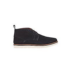 Burton - Navy suede boots