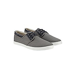 Burton - Grey twill plimsolls