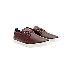 Burton - Burgundy leather look trainers
