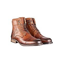 Burton - Tan leather military boots