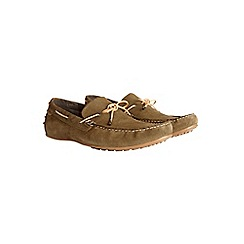 Burton - Khaki leather driving loafers