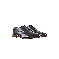 Burton Montague Black Leather Brogue Shoes