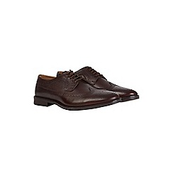 Burton - Burgundy leather brogue shoes