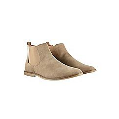Burton - Beige suede look chelsea boots
