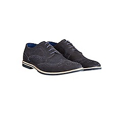 Burton - Navy suede desert shoes