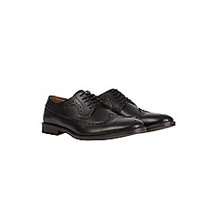Burton - Black leather brogue shoes