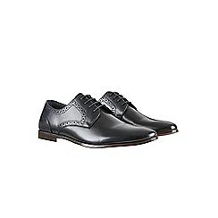Burton - Black leather brogue shoes