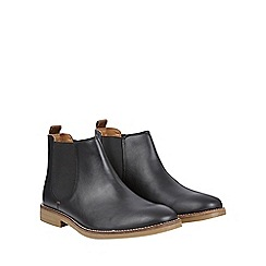 Burton - Black leather look chelsea boots