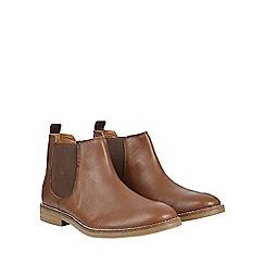 Burton - Tan leather look chelsea boots