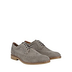 Burton - Grey suede look brogues